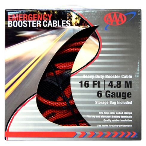 AAA Heavy-Duty 6-Guage 16' Booster Cables - image 1 of 1