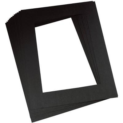 Pacon Pre-Cut Mat Frames, 12 x 18 Inches, Black, pk of 12