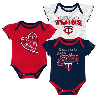 MLB Minnesota Twins Girls' Bodysuit - 12M
