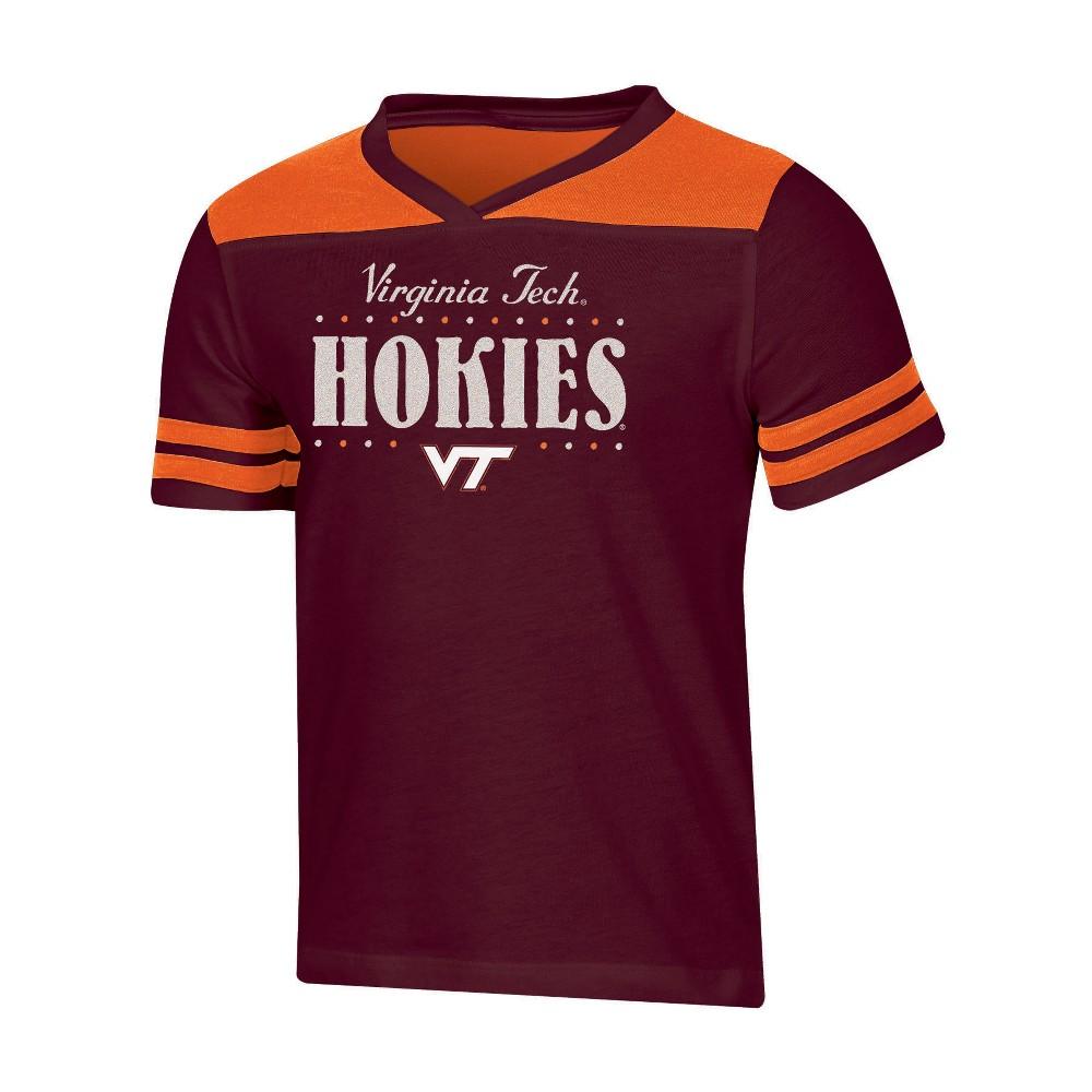 NCAA Girls' Heather Fashion T-Shirt Virginia Tech Hokies - L, Multicolored