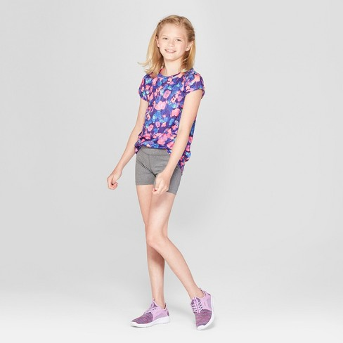 78bc1e55c Girls' Printed Tulips Tech T-Shirt- C9 Champion®. Shop all C9 Champion