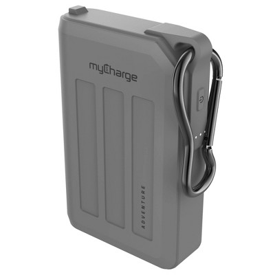 myCharge Adventure H2O Max 10050mAh/2.4A Output Dual USB-A Port Power Bank - Gray