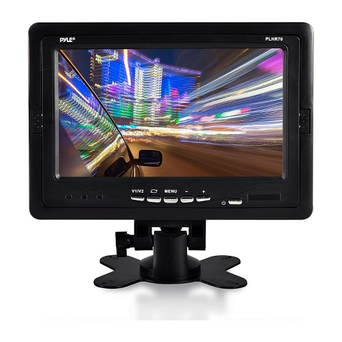 Pyle PLHR70 7 Inch Full Color Widescreen LCD Video Screen Universal Monitor Display for Cars with Wireless Remote Control and Wiring Harness, Black - image 1 of 4