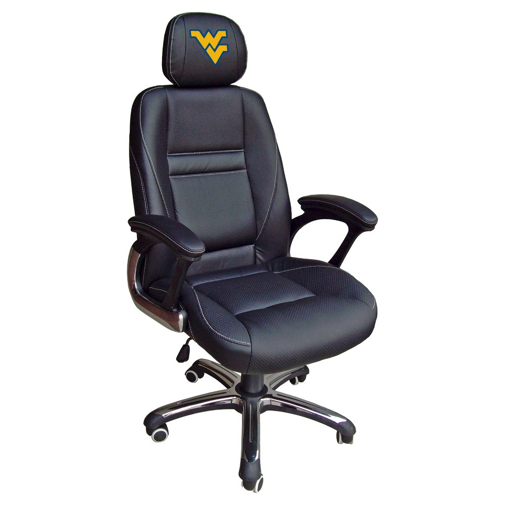 NCAA Leather Office Chair West Virginia Mountaineers