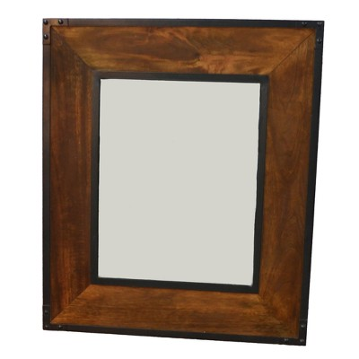 Luka Wall Mirror Chestnut/Black - Carolina Chair & Table