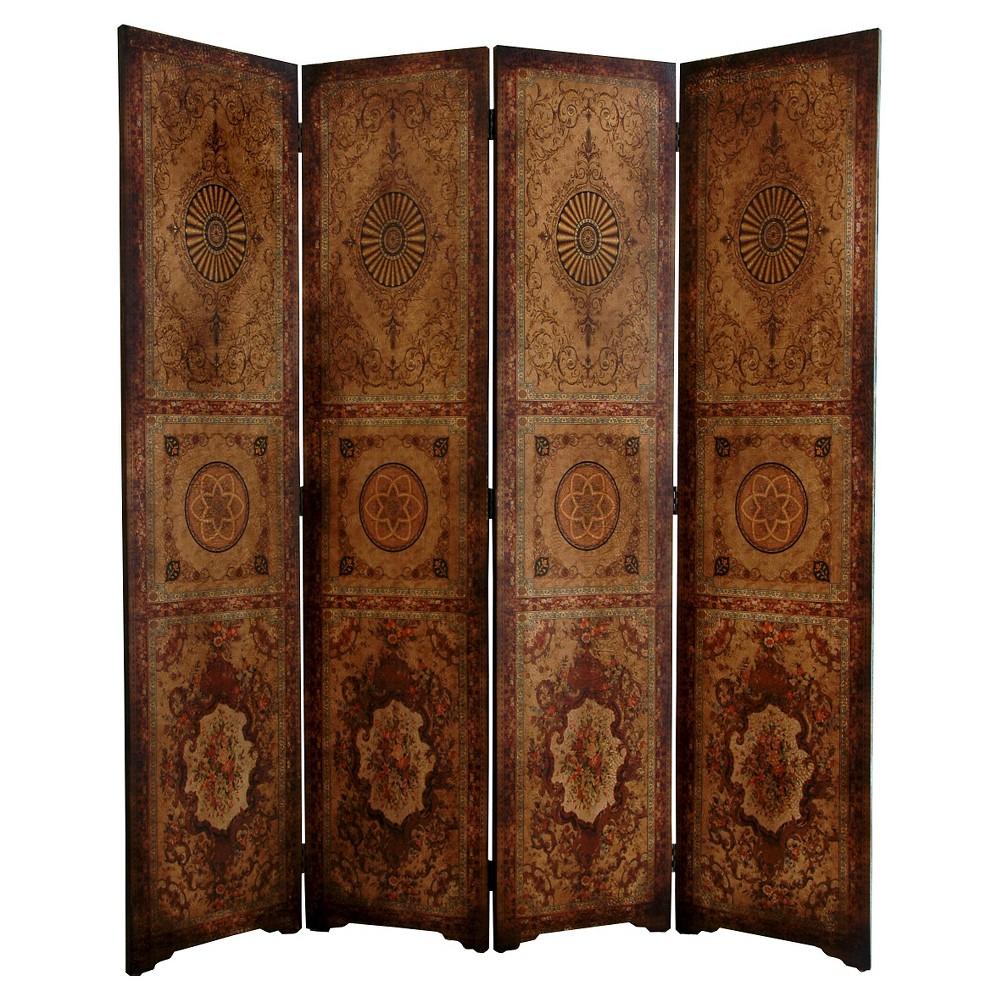 Image of Olde Worlde Parlor Room Divider - Oriental Furniture, Brown