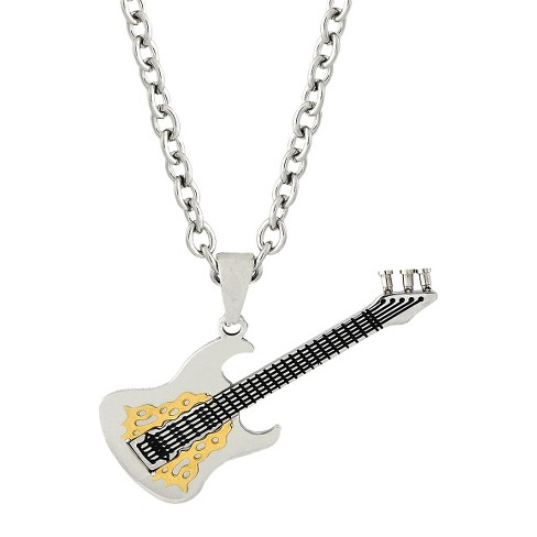 Men's Stainless Steel Guitar Pendant - image 1 of 1