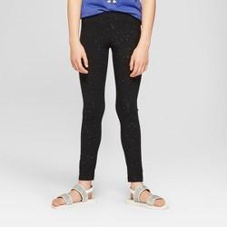 Girls' Sparkle Leggings - Cat & Jack™ Black