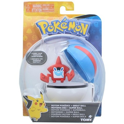 Tomy Pokemon Clip and Carry Poke Ball | 2 Inch Rotom and Great Ball