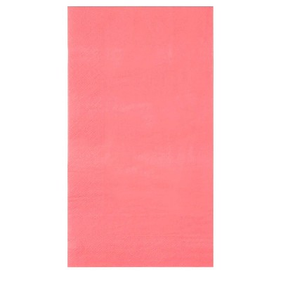 Blue Panda Neon Pastel Pink Disposable Paper Napkins (120 Pack) Bulk for Weddings Showers 4.25 x 7.5 Inches