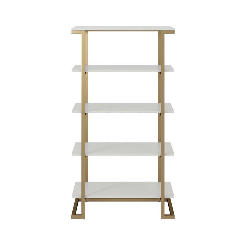 55 51 34 Camila 5 Shelf Bookcase White Cosmoliving By Cosmopolitan