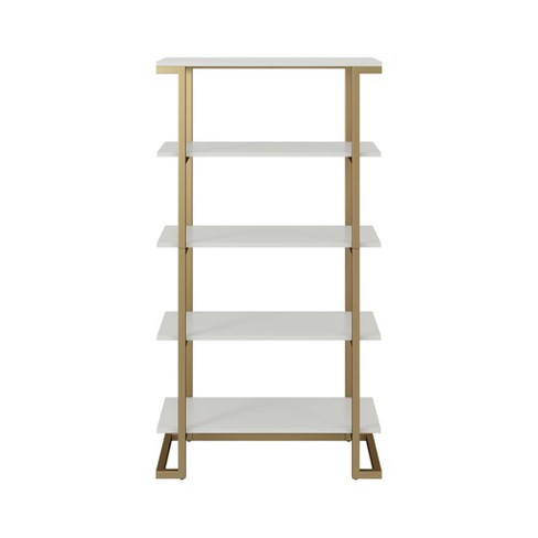 Camila 5 Shelf Bookcase White Cosmoliving By Cosmopolitan