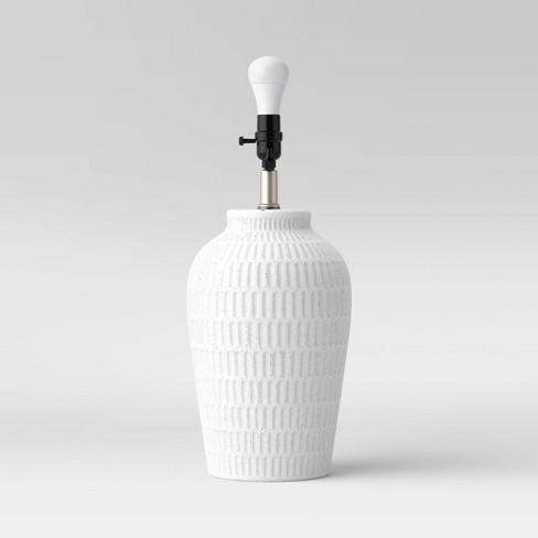 Large Ceramic Textured Table Lamp Base - Threshold™ - image 1 of 4