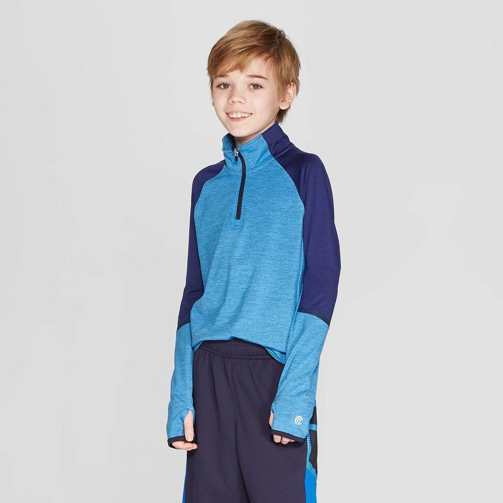 Boys' Heather 1/4 Zip Pullover - C9 Champion Blue L
