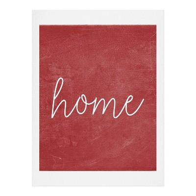 8 x10  Monika Strigel Farmhouse Home Chalkboard Red Art Print Unframed Wall Poster Red - Deny Designs