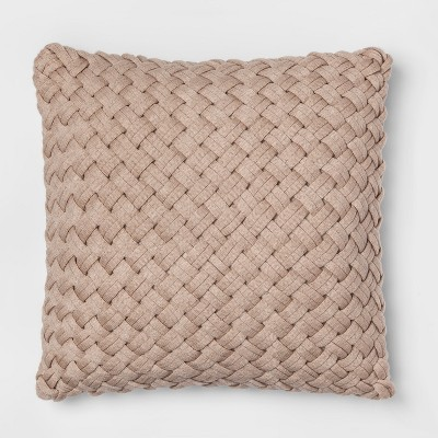 Chunky Knit Oversize Square Throw Pillow Neutral - Threshold™