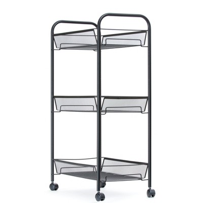 Mind Reader 3-Tier Mesh Wire Rolling Crafting Supply Cart