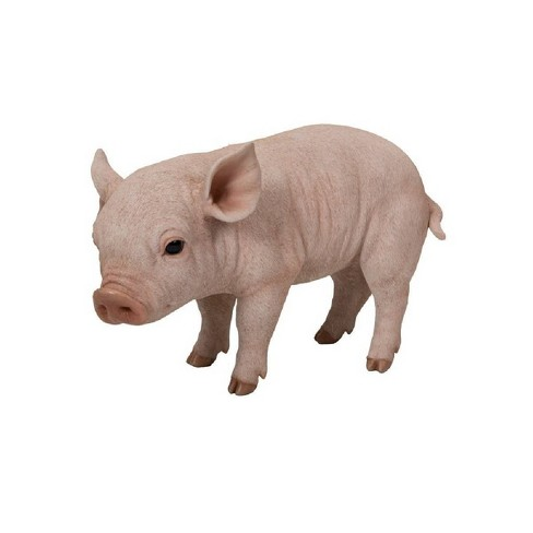 "9"" Polyresin Standing Baby Pig Statue Pink - Hi-Line Gift - image 1 of 1"