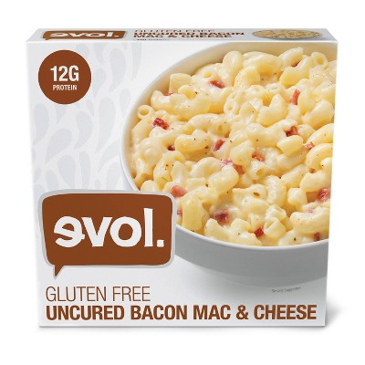 Evol Gluten Free Uncured Bacon Frozen Mac and Cheese - 8oz