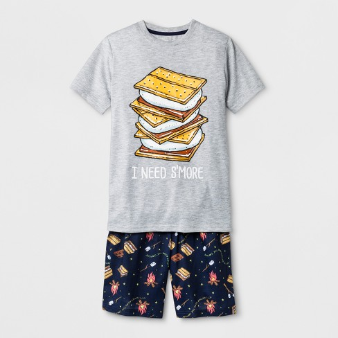 Boys' 2pc Cookie Graphic With I Need S'more Wordings Pajama Set - Cat & Jack™ Grey - image 1 of 1