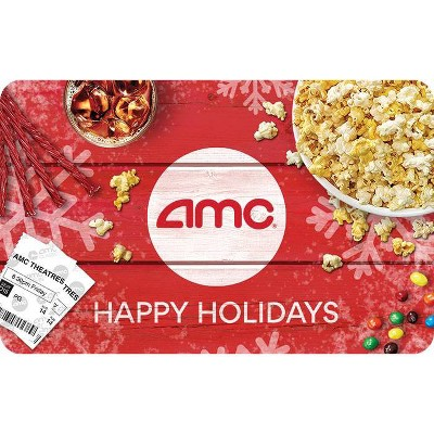 AMC Theaters Happy Holidays Gift Card $100 (Email Delivery)
