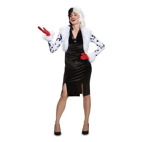 Disney Villains Women's Cruella De Vil Deluxe Halloween Costume - Disguise - image 1 of 1