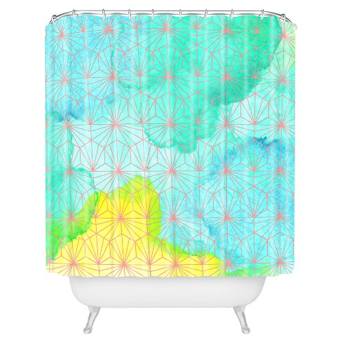 Floral Shower Curtain Blue - Deny Designs® - image 1 of 4
