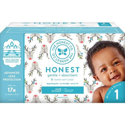 Honest Company Disposable Diapers Club Box Hey Rudolph - Size 1 (80ct)