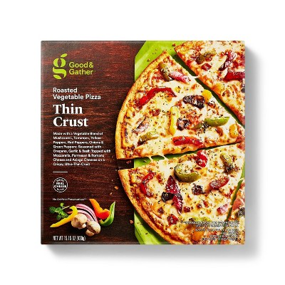 Thin Crust Roasted Vegetable Frozen Pizza - 15.15oz - Good & Gather™