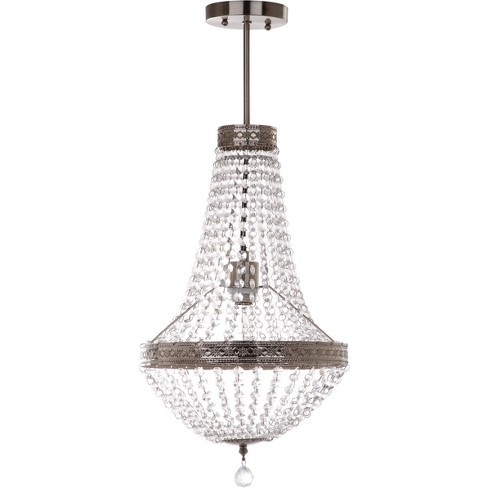 "Shirley Grand 1 Light ""11.75"" Dia Pendant Nickle / Clear - Safavieh® - image 1 of 2"