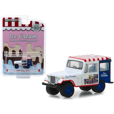 """1975 Jeep DJ-5 Ice Cream Truck """"Hobby Exclusive"""" 1/64 Diecast Model Car by Greenlight"""