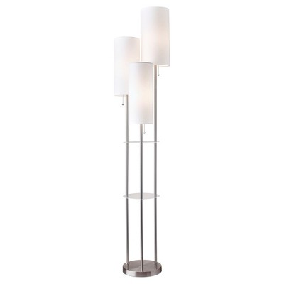 "68"" Trio Floor Lamp Silver - Adesso"