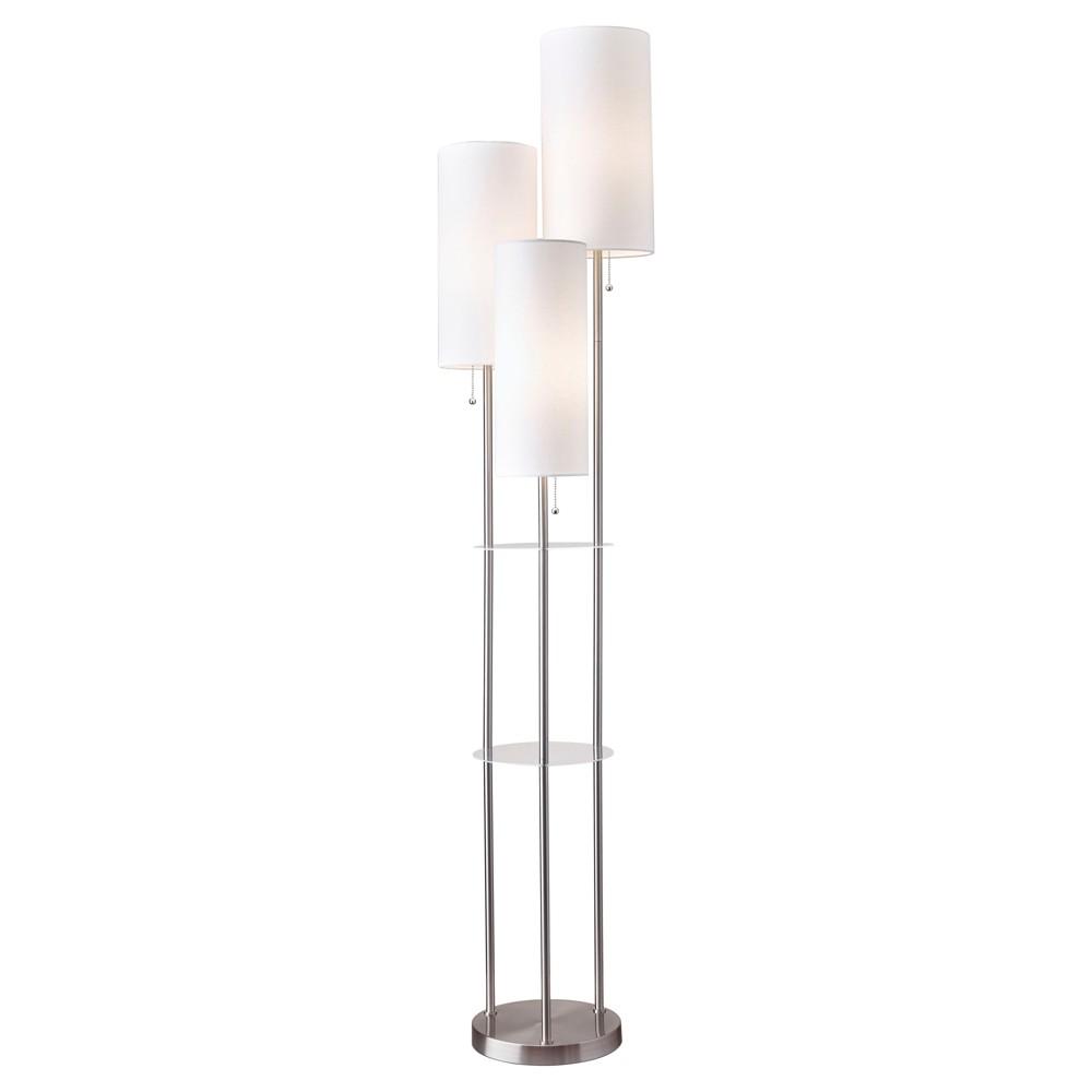 Image of Adesso Trio Floor Lamp Silver