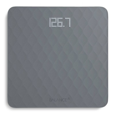 Designer Bathroom Scale with Textured Silicone Cover Gray - Greater Goods