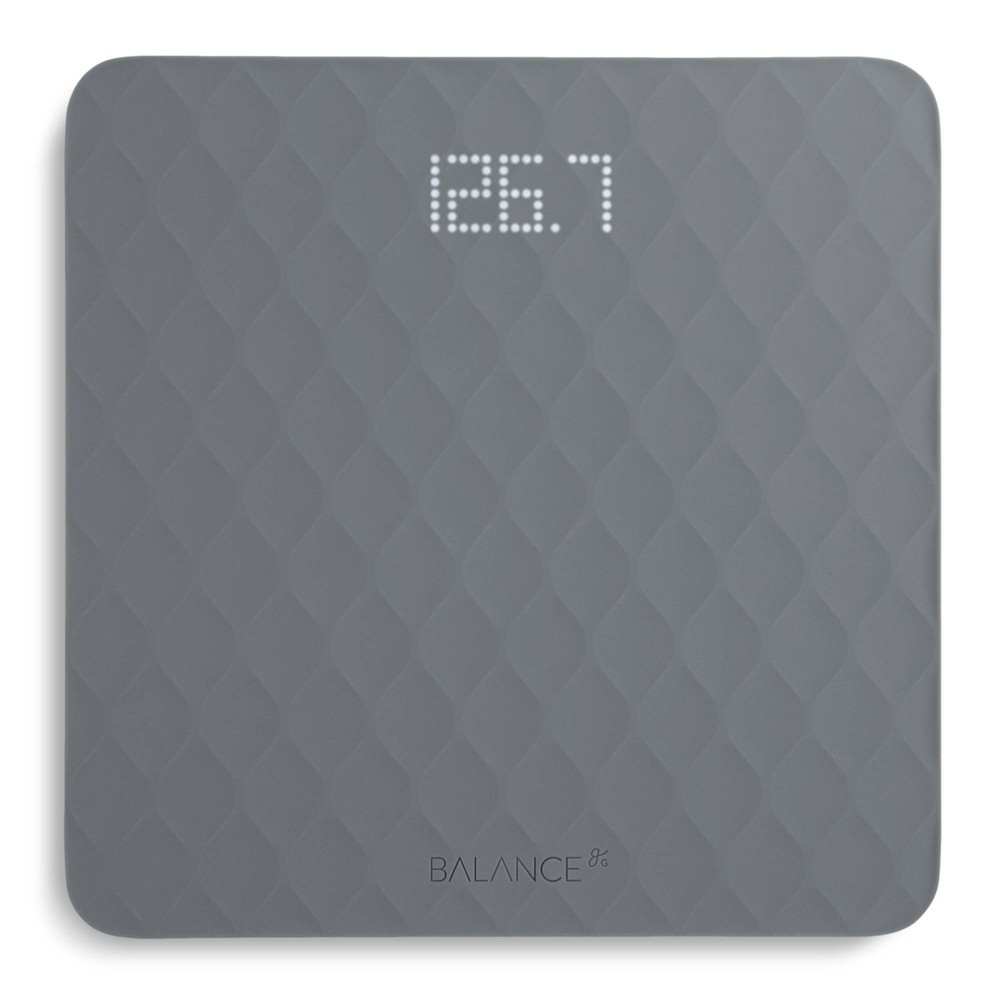 Image of Designer Bathroom Scale with Textured Silicone Cover Gray -Greater Goods