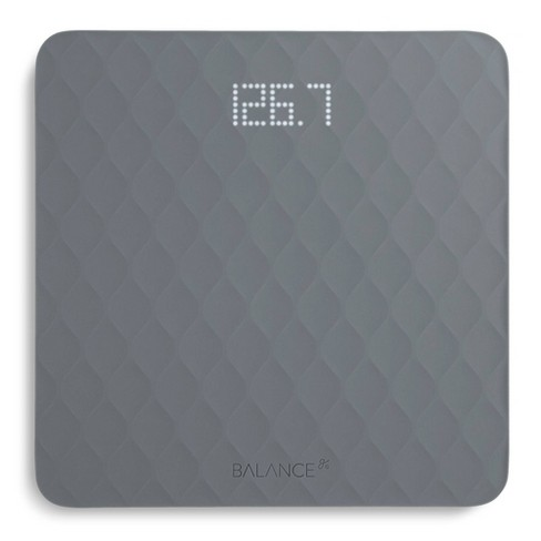 Designer Bathroom Scale with Textured Silicone Cover Gray -Greater Goods - image 1 of 4