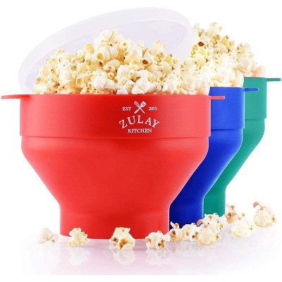 Zulay Kitchen Collapsible Silicone Popcorn Maker