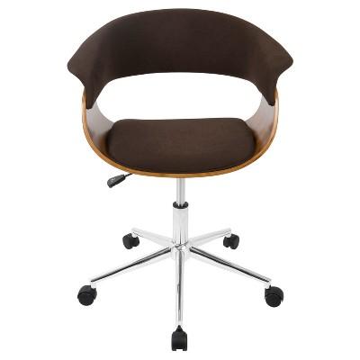 Vintage Mod Mid Century Modern Office Chair Walnut - Lumisource
