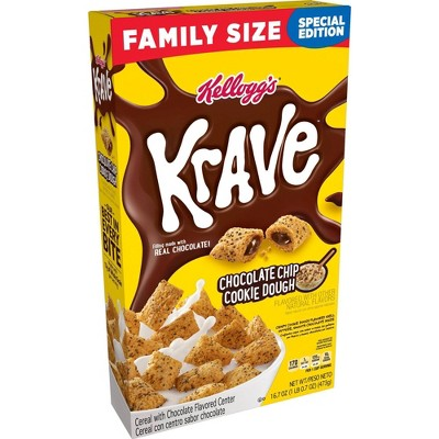 Krave Cookie Dough Family Size Cereal - 16.7oz - Kellogg's