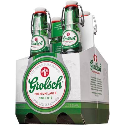 Grolsch Premium Lager Beer - 4pk/15.2 fl oz Bottles