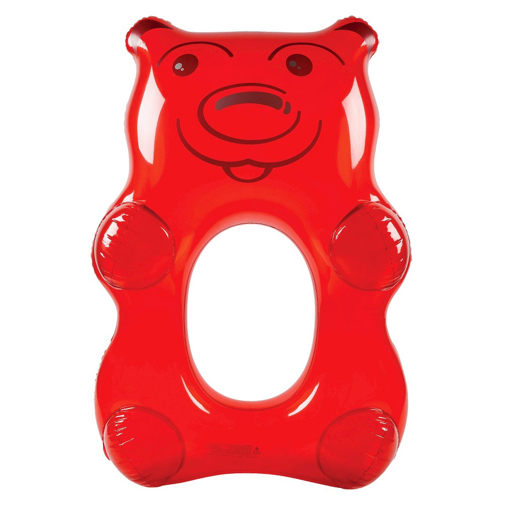 Big Mouth Toys Giant Gummy Bear Pool Float - Red