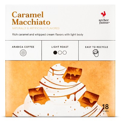 Caramel Macchiato Light Roast Coffee - Single Serve Pods - Archer Farms™