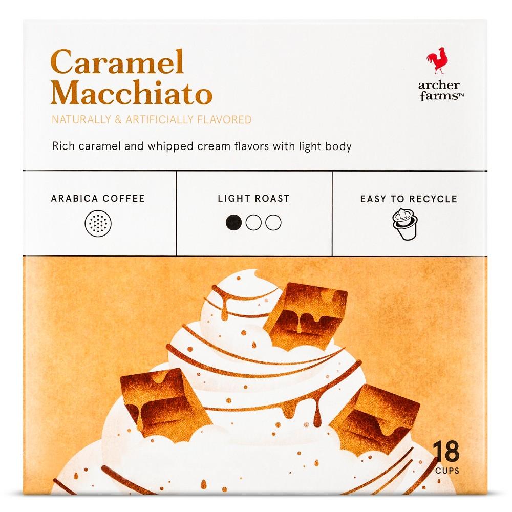 Caramel Macchiato Light Roast Coffee - Single Serve Pods - Archer Farms