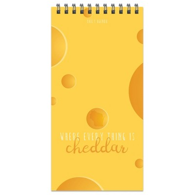 """Spiral 1-Subject Notebook Daily Agenda 8.5"""" x 4"""" Wisconsin Cheese Theme - The Time Factory"""