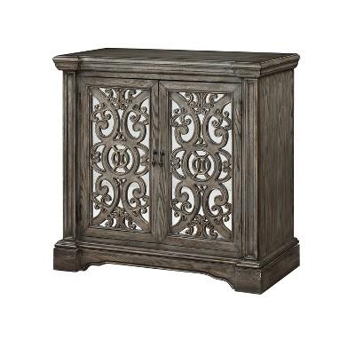 Savannah 2 Door Cabinet Gray - Treasure Trove Accents