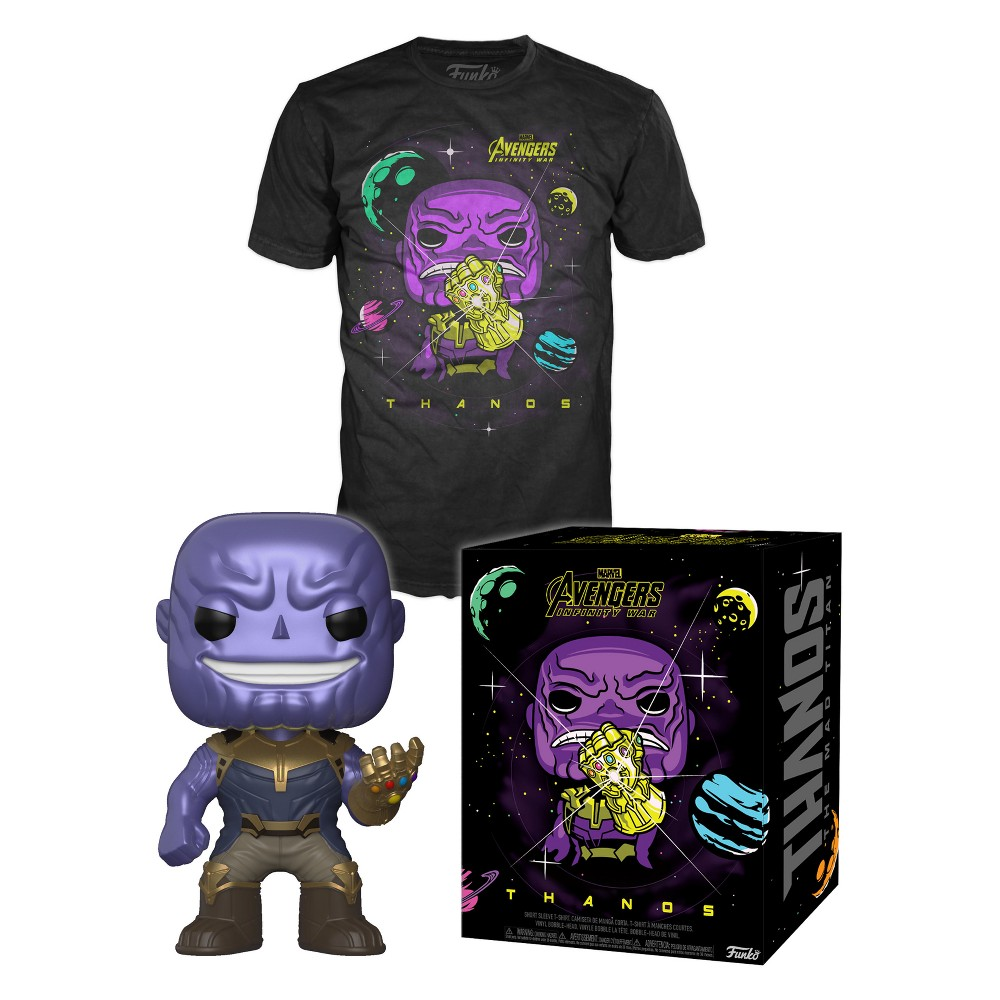 Funko Pop! Marvel Collectors Box: Thanos in Space Pop! & Tee - Black S
