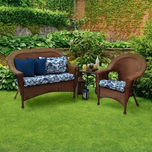 2pk Garden Delight Wicker Chair Cushions Arden Selections Target