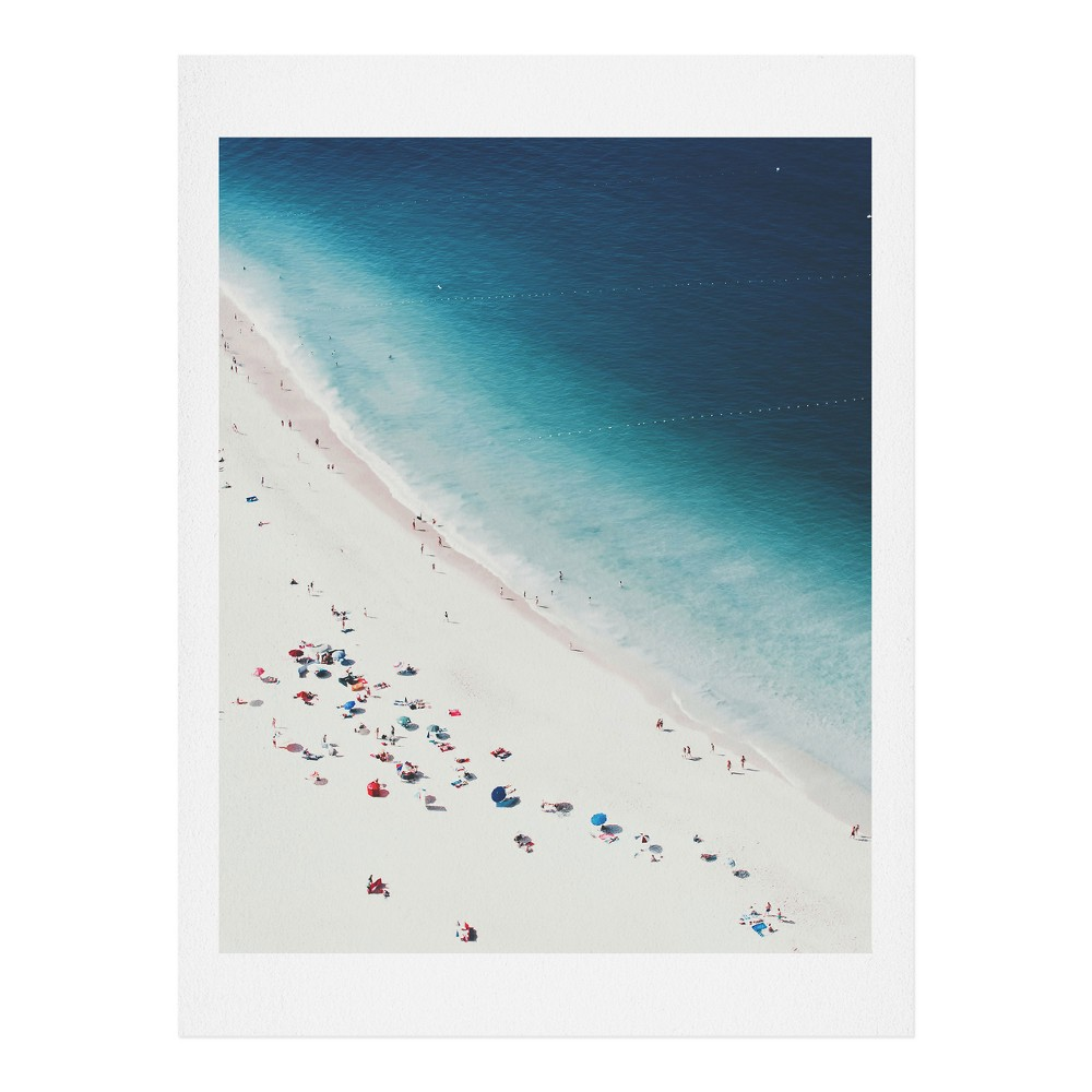 "Image of ""16"""" x 20"""" Ingrid Beddoes Beach Midnight Blue Wall Art Print Blue - society6"""