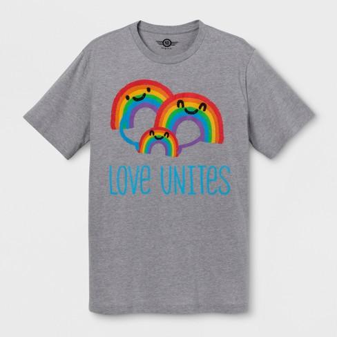 e5a6162ed2f1 Pride Adult Big   Tall Short Sleeve Love Unites...   Target
