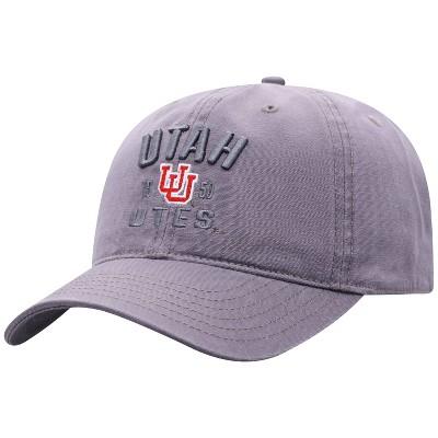NCAA Utah Utes Men's Skill Gray Garment Washed Canvas Hat